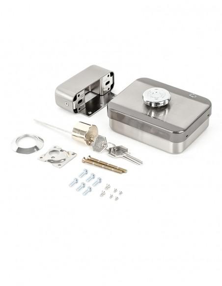 Incuietoare aplicata de exterior, fail-secure, cu motor si senzor magnetic DJ02(MVM)-FL