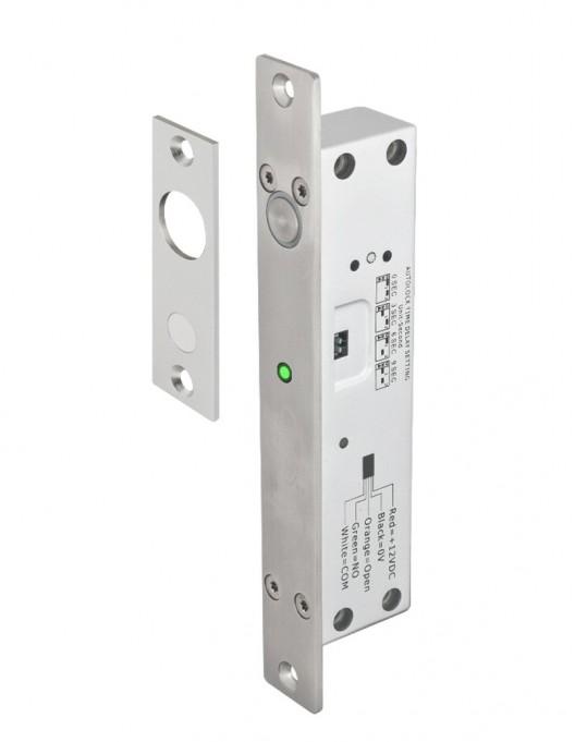 Bolt electromagnetic incastrabil, cu temporizare, led stare, senzor YB-500B(LED)