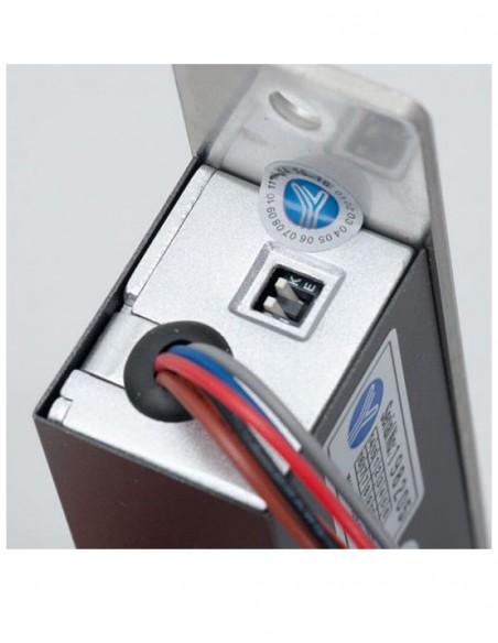 Bolt electromagnetic incastrat, cu monitorizare, cilindru cu cheie YB-600C(LED)
