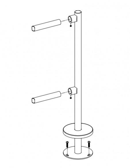 Stalp de capat din INOX, pentru balustrade K-VO