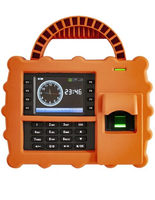 Terminal de pontaj, portabil, cu senzor de amprente, cititor de carduri si tastatura S922-3G-O-E