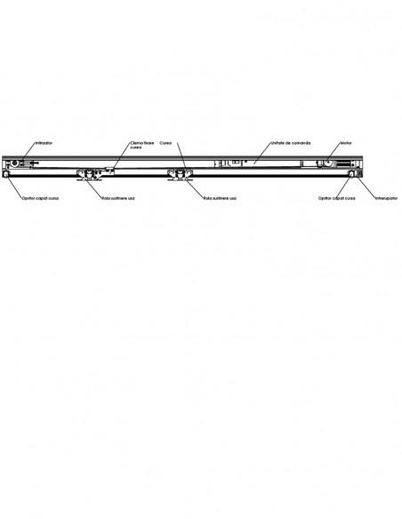 Sistem automatizare usi glisante, 1 usa maxim 125kg VZ-125-1