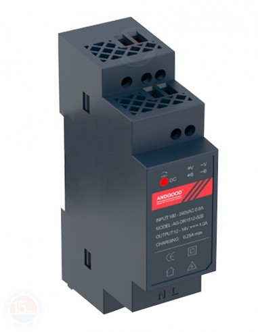 Sursa alimentare 12Vcc/2A, montare pe sina DIN DR12024-01C