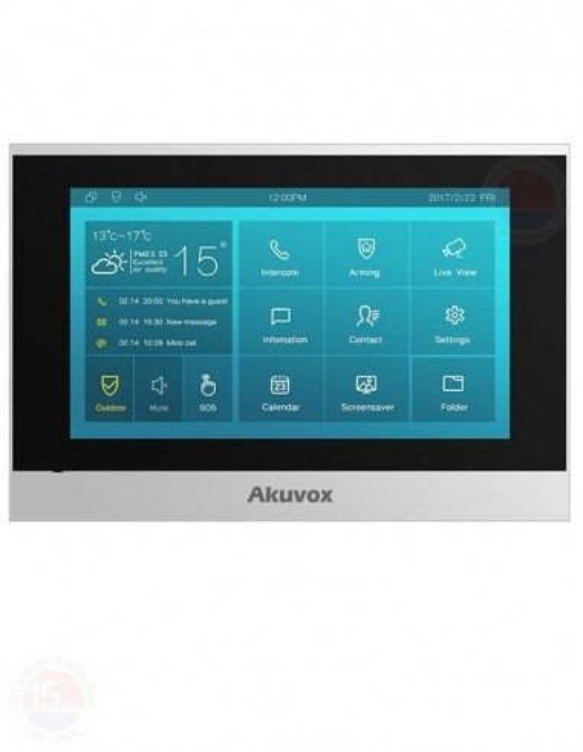 "Monitor videointerfon IP SIP, 7"", Android Akuvox C315W"