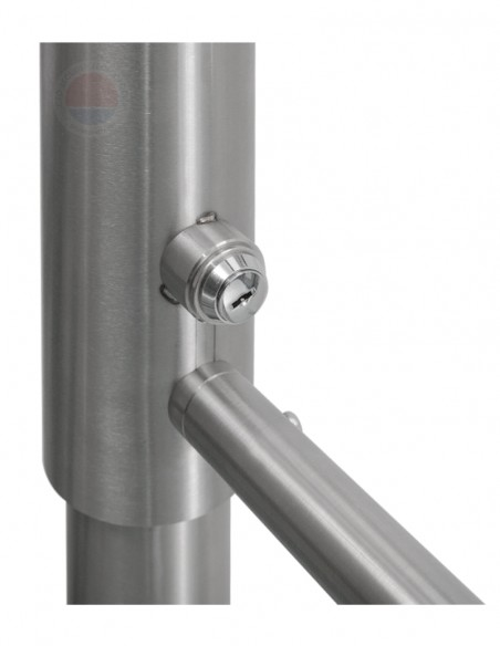 Poarta batanta bidirectionala din INOX, mecanica cu cheie YK-PB-M-ZL