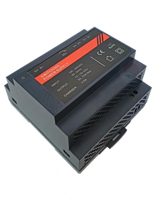 Sursa alimentare 12Vcc/5A, montare pe sina DIN DR12060-02B