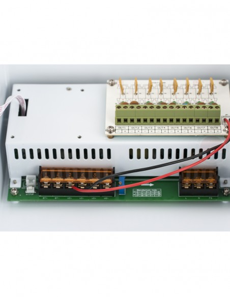 Sursa alimentare cu backup, 8 canale, 12V/10A YPS-12-8-10