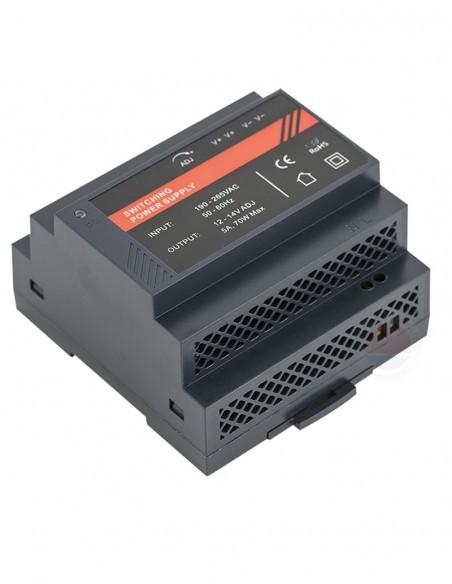 Sursa alimentare 12Vcc/5A, montare pe sina DIN DR12060-02C