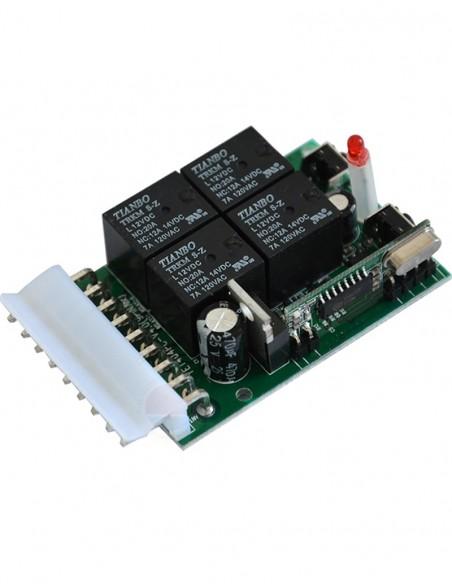 Receptor wireless 433Mhz 4 relee YET-401PCV-4