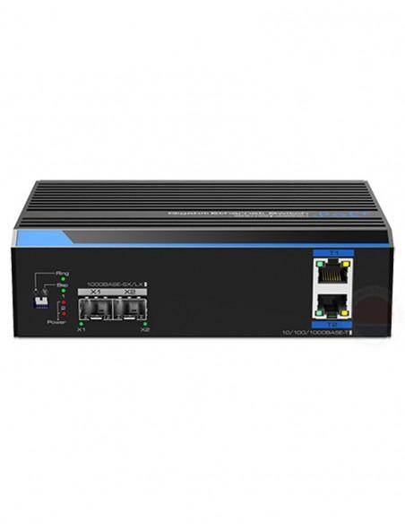 Switch industrial cu 2 porturi ethernet gigabit POE+ UTP7202GE-POE