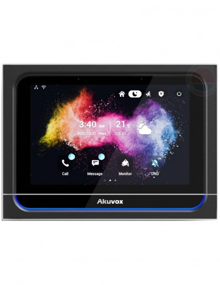 "Monitor videointerfon IP SIP, WiFi, 7"" Akuvox X933W"
