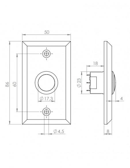Buton de iesire incastrabil NC/NO PBK-800A